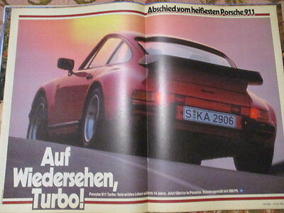 Poster 2 Pages Auto : Porsche 911 Turbo 300Cv