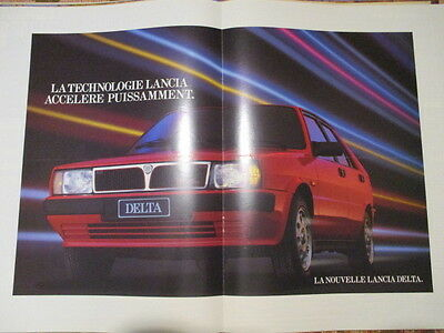 Poster 2 Pages Auto : Lancia Delta Hf Turbo