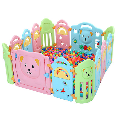 Surreal Bear Infant & Baby Playpen - 14 Panels
