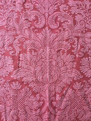 Brunschwig & Fils, Soubise Damask Rose Remnant, linen fabric.SUPERB QUALITY.....