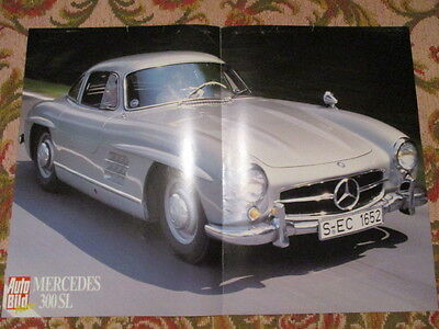 Poster 2 Pages Auto : Mercedes 300 Sl Bis