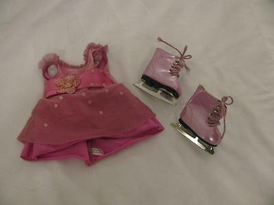 AMERICAN GIRL Ice Skating Outfit Dress w/ Ice Skates Pink Purple - RETIRED!
