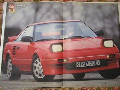 Poster 2 Pages Auto : Toyota Mr2 Twin Cam 16.