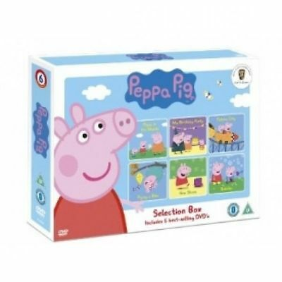 Peppa Pig Selection Box (DVD) kids 6 best selling DVD'S Brand new ideal gift