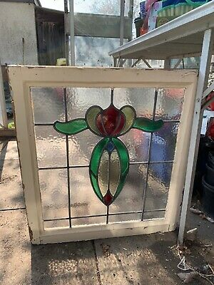Leaded Stained Glass Window Lights X3