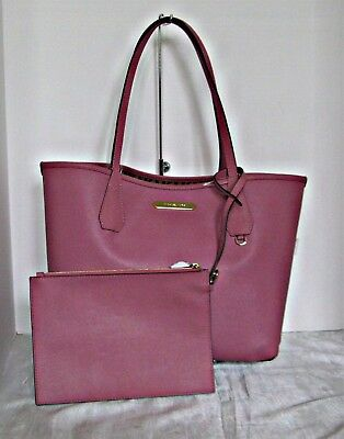45006742ffcb45 NEW MICHAEL KORS Candy Large Reversible Tote in Signature PVC Beige ...