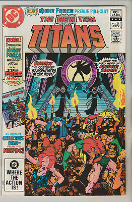 *** Dc Comics New Teen Titans #21 1St Night Force And Brother Blood Vf ***
