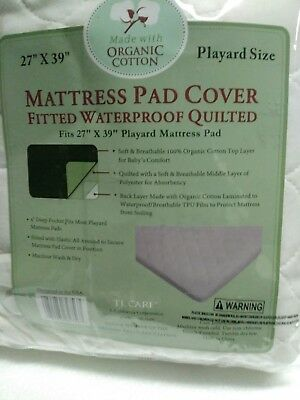 TL Care Waterproof Playard Mattress Pad Cover made with Organic Cotton