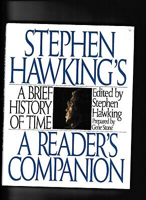 STEPHEN HAWKING'S A BRIEF HISTORY OF TIME-A READER'S COMPANION---1st1992---hc/dj