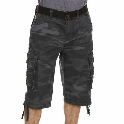 2338a39826 NEW UNIONBAY MEN Cordova Messenger Belted Cargo Shorts 15-in. Inseam ...