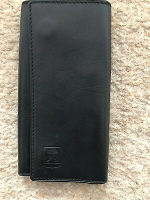 Men's Corneliani Keyholder, Genuine Italian Leather, Black And Brown Color, Used