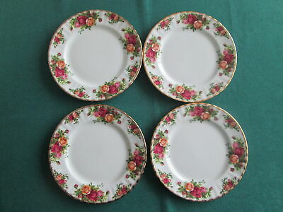 """Set Of 4 Royal Albert Old Country Roses  Plates 8"""" Wide"""