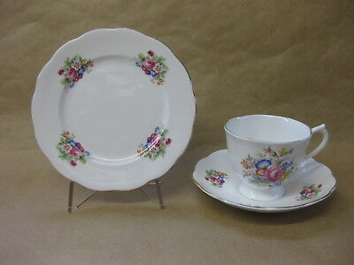 Vintage Royal Albert Bone China Trio ~ Cup, Saucer & Plate~ Gorgeous Pink Roses