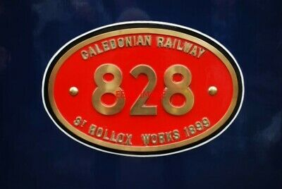 Photo  Caledonian Railway St Rollox Worksplate At Bridgnorth Severn Valley Railw