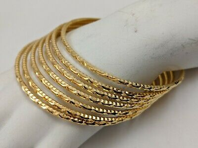 22K Yellow Gold Bangle Bracelets