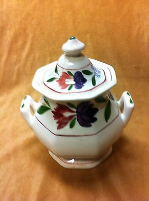 Adams Ironstone Old Colonial sugar bowl with matching lid, made in England