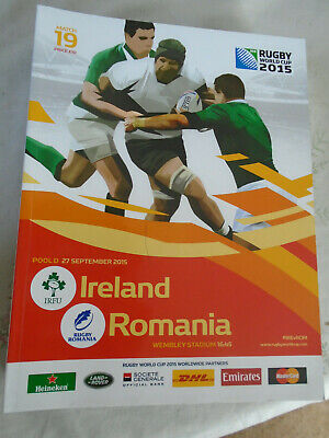 Rugby world cup 2015 offical program match 19 Ireland v Romania