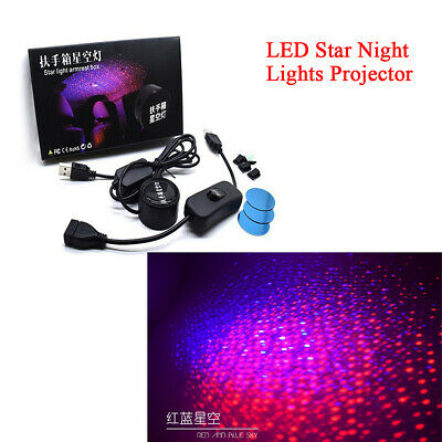 Car Interior Atmosphere Lamp Dual Colors LED Star Night Lights Projector IPX4