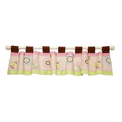 Lil Bedding by NoJo In My Garden Nursery Decorative Window Valance, Pink
