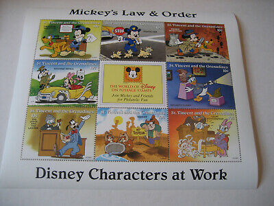 St.vincent & The Grenadines   1996  Disney Characters At Work-Mickey's Law & Ord