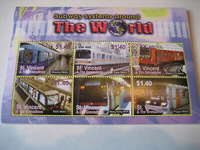St.vincent & The Grenadines 2005  Subway System Around The World Sheetlet