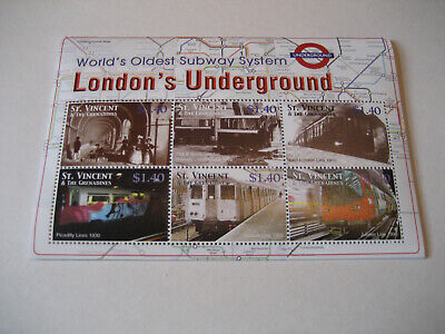 St.vincent & The Grenadines  2005 World's Oldest Subway System-London's Undergro