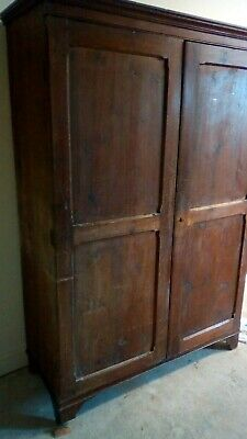 Antique UNIQUE  PITCH PINE  victorian school CUPBOARD, reduced by over £400!