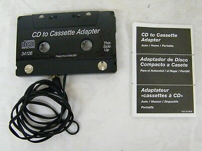 Vintage CD to Cassette Adapter Auto/ Home/ Portable