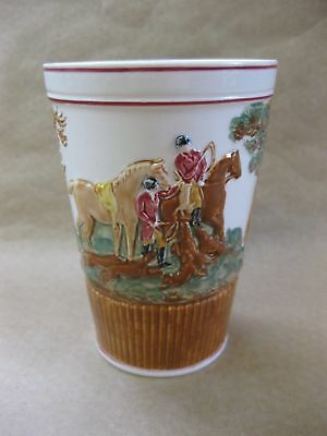 Antique Wedgwood Relief Moulded Beaker ~ Hunting Scene / John Peel ~Horses, Dogs