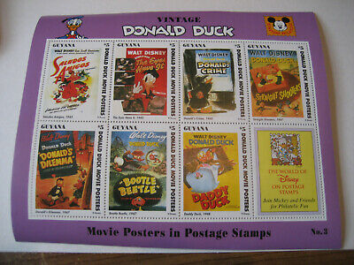 Responsible Guyana Block365 Never Hinged 1993 Donald Duck complete Issue Unmounted Mint