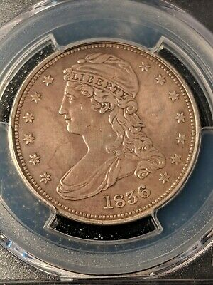 1836 Reeded edge half dollar, PCGS VF (Almost XF!!) Extremely RARE!!!
