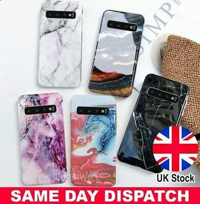 Case For Samsung Galaxy S10 E S9 S8  Marble Shockproof Silicone Protective Cover