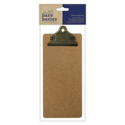 Papermania Bare Basics Tall Kraft Clipboard With Metal Clip 10cmx22.3cm Drawing