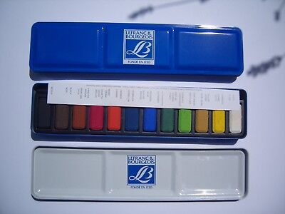 Lefranc & Bourgeois Louvre Box of 12 watercolour paints One Set