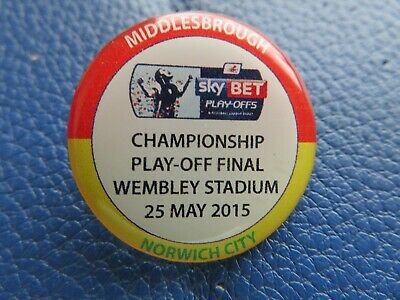 Middlesbrough Norwich City Championship Play Off Final 2015 Official Badge