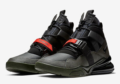 3e5df8786a182 Nike Air Force 270 Utility Sequoia Black Habanero Red Aq0572-300 Multiple  Sizes