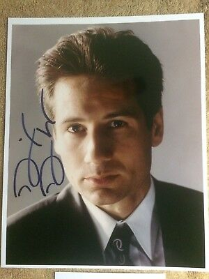 DAVID DUCHOVNY X-FILES - Early Autographed Signed 8x10 Photo Authentic w/COA