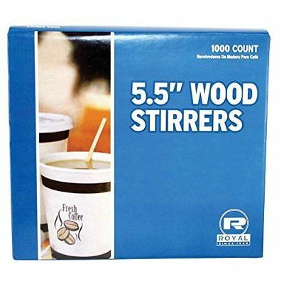 "1000 Count - 5.5"" Wood Coffee Stirrers, Wood Craft  Popsicle Sticks"