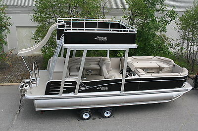 2585 Grand Island Funship cruise pontoon boat-ski bar Hpp tubes