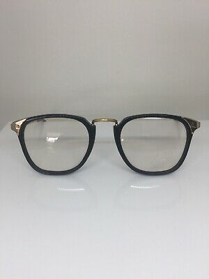 New Vintage Alpina FA 9 Eyeglasses C. 33 309 03 Shiny Black with Gold W. Germany