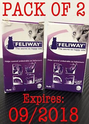 Ceva Feliway Plug-In Diffuser Refill for Cats 48ml • PACK OF 2! FAST! **READ**