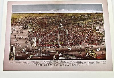New York City Historic Map Reproduction 1879   City of Brooklyn 14x11