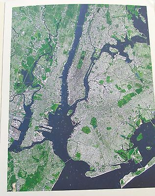 New York City Historic Map Reproduction of NASA VIEW Of New York City From Space