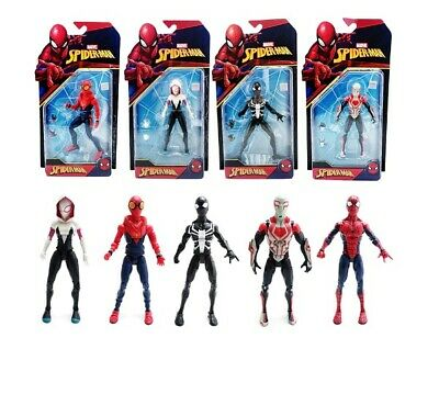 """5pcs Marvel Spider Man Homecoming Spiderman 2099 Gwen Stacy 7"""" PVC Action Figure"""