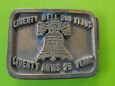 Liberty Bell 200 Years  &mLiberty Arms 25 Years Belt Buckle Commemorative