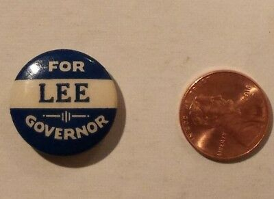 Rare St Louis Button Ca Campaign Pin from Arizona? Lee for Governor  DS602
