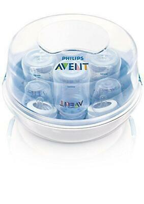 Philips AVENT Sterilizer Steam Microwave BPA Free Fast Slow Nipple 2 Count