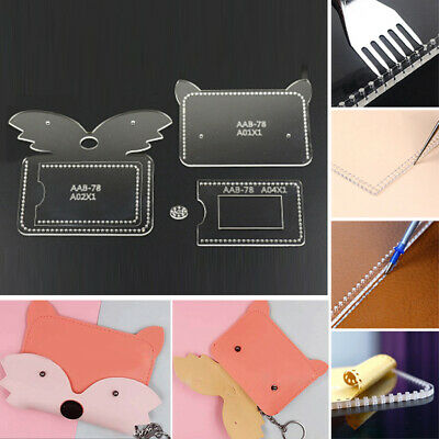 Acrylic template Holder Wallet Pattern Stencil 12*8.5cm Transparent Kit Clear