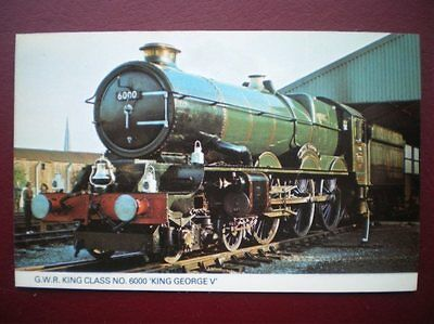 Postcard Rp Rail Gwr King Class Loco No 6000 'King George V'