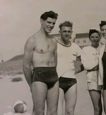 faa954f449 Vintage Old 1940 Photo of Cuban Man Men Wearing Briefs Bathing Suit Swimsuit